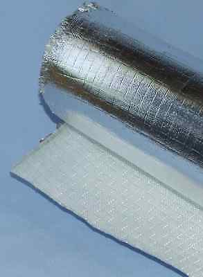 Exhaust Turbo Heat Shield Wrap - Aluminised Mat Heat Barrier - Various Sizes