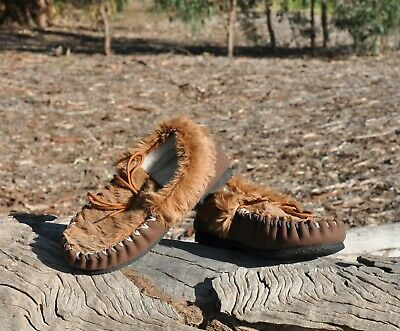 Moccasins - Slippers Kangaroo Skin  Genuine Australian Made *Free Aus Post*