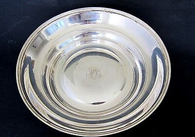 Antique Large Simple & Elegant Sterling Silver  Bowl ,9 by 2 Inches,8.31 toz