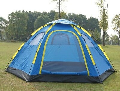 6 Person Instant Pop Up Camping Tent Sets Up In Seconds Hiking Camping Fishing