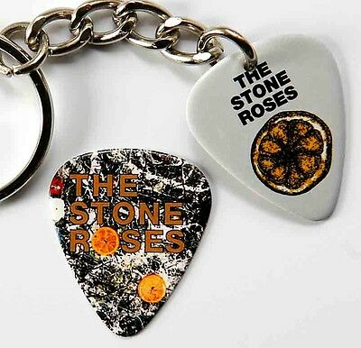 The Stone Roses Two Sided Guitar Pick Keyring plus matching Pick