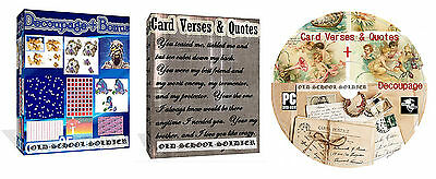 6000 Card Verses And Quotes + 35000 Decoupage Items For Card Making DVD Disk +