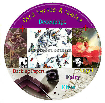 Decoupage + Everything For Cardmaking Card Verses Quotes Vintage Images On 1 DVD