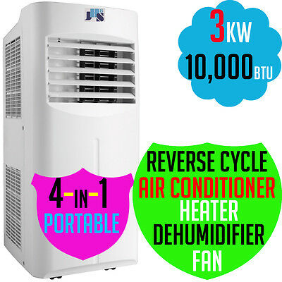 JHS8 Reverse Cycle Portable 4-in-1 Air Conditioner DeHumidifier Heating 10000BTU