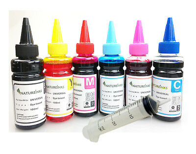 4 Yellow Universal Refill Ink dye Bottle for CISS or Refillable Cartridges 400ml