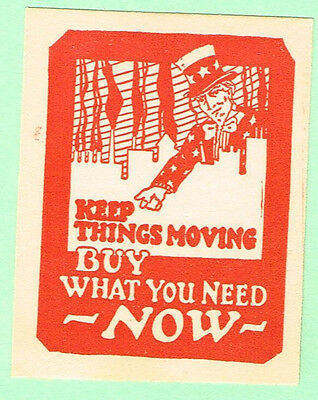 Poster stamp   Uncle Sam   Keep things moving buy what you need now