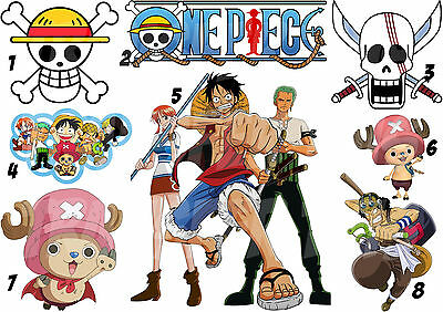 One Piece Iron On T-Shirt Fabric Transfer Strawhat Luffy Pirates Manga