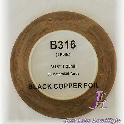 "3/16"" black backed copper foil for leadlight / stained glass, glass arts n craft"