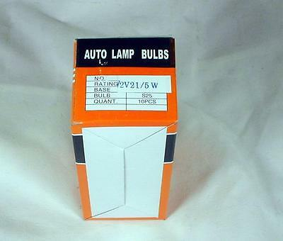 Lambretta 12V 21/5W Stop/Tail Light Bulbs Twin Filament - Box of 10 Q1225