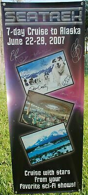 BUFFY STAR TREK 2007 cruise banner signed by Elisabeth Rohm, Claudia Christian,