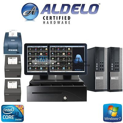 ALDELO POS 2013 PRO RESTAURANT COMPLETE SYSTEM 2 Stations Windows 7 Pro NEW