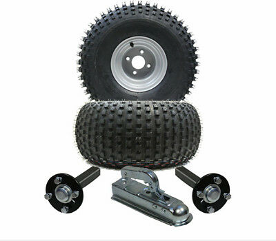 atv trailer - Quad trailer - wheels + hub / stub + hitch, kit  310kg