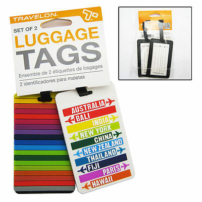 2 Baggage Luggage Suitcase Id Holder Name Travel Tags Bag Backpack Gift Travelon