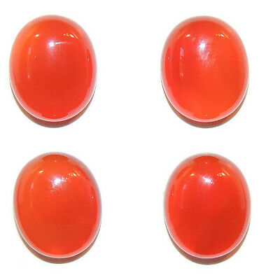 Carnelian Cabochons 12x10mm with 5mm dome Set of 4 (3956)