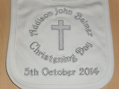 Personalised Christening Day Baby Bib, Gift!, L@@k!!!!!!!!!!!!!!!!!