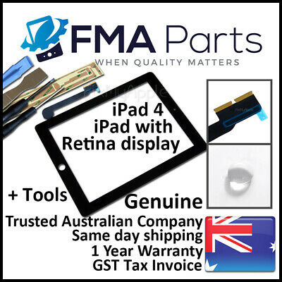 iPad 4 OEM Black with Retina Display Touch Screen Glass Digitizer Front Wifi 3G