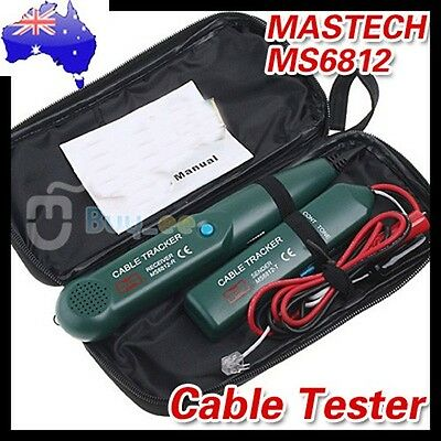 AU Cable Finder Tone Generator Probe Lan Wire Tracker Kit Network Tester Meter