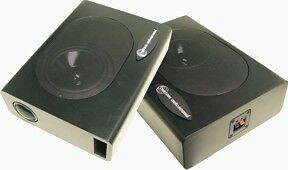 Undercover 1 Speaker Enclosures by Custom Autosound Compact, pair 120 watts  *a
