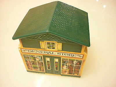 Vintage 1982 Christmas Avon Ginger Bread Hose General Store Trinket Box McConnel