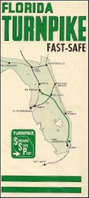 Road Map Florida.1965 Florida Road Map Texaco Gas Oil Small U S Map With Interstate
