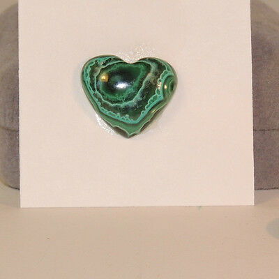 Malachite and Chrysocolla Heart Cabochon 18x16mm with 5mm Dome (3967)