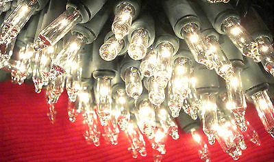 New 300 White Icicle Lights Clear Christmas Wedding GREEN Wire