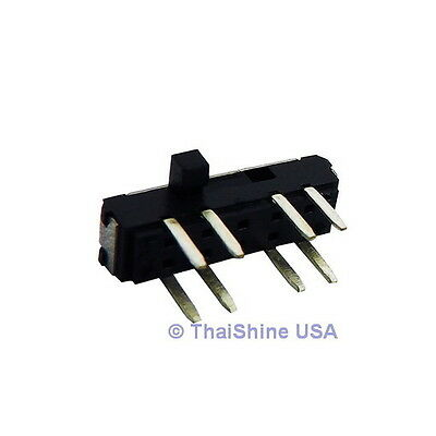 5 x MINI SLIDE SWITCH 0.3A 6V DC 2P3T - USA SELLER - Free Shipping