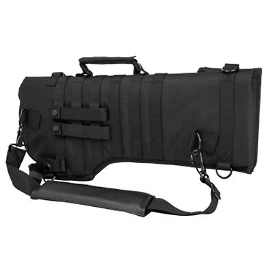 NcSTAR Tactical Black Hunting Rifle/Carbine Over Shoulder Modular MOLLE Scabbard