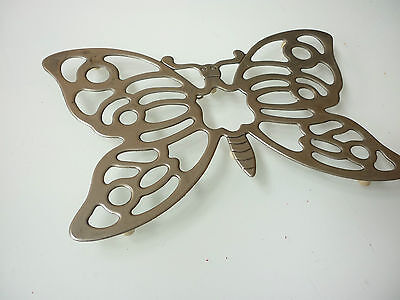Vintage Leonard Trivet or Wall Decoration - Butterfly - Silver Plated Metal
