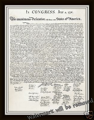Wall Art / Photograph of the  Declaration of Independence 11x14