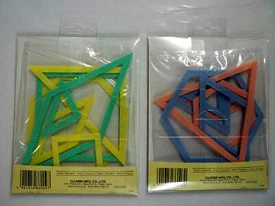 Clover Patchwork Templates Set Of 14 Plastic Triangles Hexagons Squares Octagons