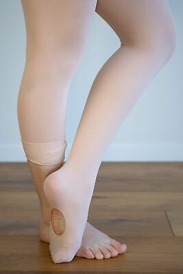 Dance Tights Convertible Ballet Pink-Sml Ch to XL Adult
