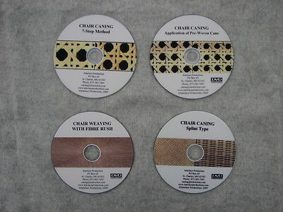 CHAIR WEAVING DVDs - Set of 4
