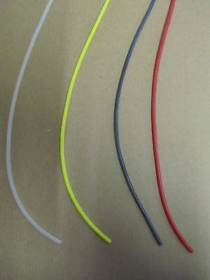 1mt SILICONE RIG TUBE 3 SIZES IN 4 COLOURS