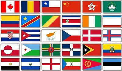 FRIDGE MAGNET - WORLD FLAGS (Various) Large Jumbo, C to E