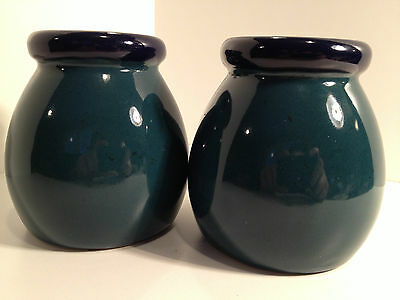 Large Stove Top Green And Blue Salt & Pepper Shakers