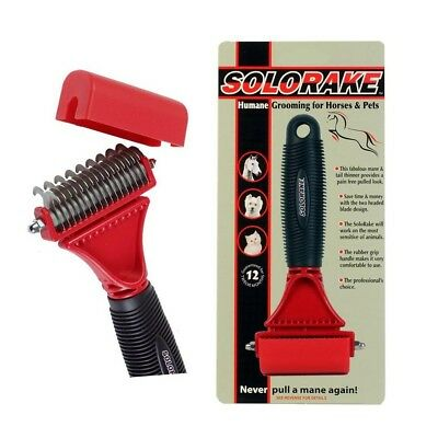 Solo Rake Horse Rake for Thinning Mane and Tail Thinner SoloRake Grooming Aid