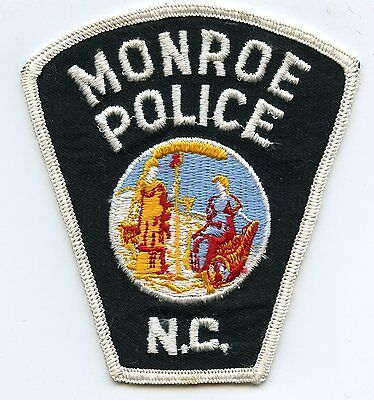 old vintage MONROE NORTH CAROLINA NC POLICE PATCH