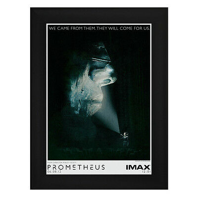 PROMETHEUS IMAX Framed Film Movie Poster A4 Black Frame