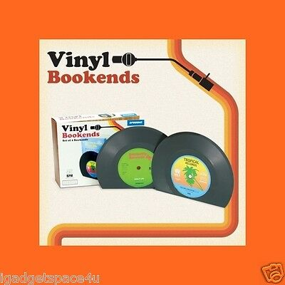 Spinninghat Retro Vinyl Record Style Bookends (2 pcs per pack)
