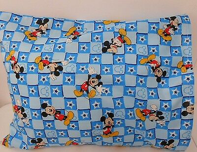 Mickey Mouse Pillowcase Child Cot Toddler Size 100% Cotton