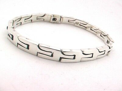 """58g 20cm Taxco Mexican 925 Sterling Silver Chain Bracelet 7.9/"""""""