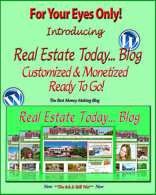 Real Estate Blog Self Updating Website Clickbank Amazon Adsense Pages & More ***