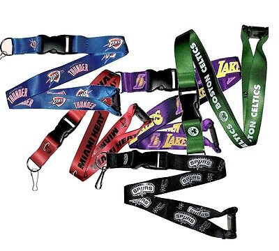 NBA Basketball Team Logo Lanyard Breakaway Keychain- Pick Team
