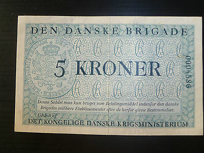 Denmark Lot P-M11 1947 5 Kronur XF-AU Add Collection