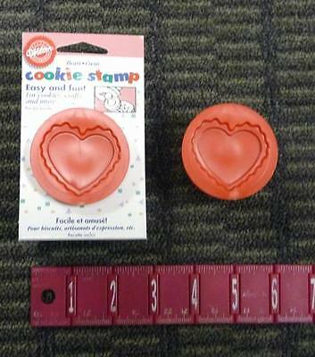 Lot of 2  Vintage Old Stock NIP Wilton Double Heart Cookie Stamp w Recipe!