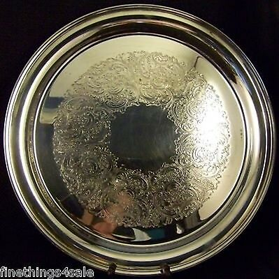 SUPERB ExLarge GORHAM SILVER ROUND SERVING TRAY PLATTER - OUR FineThings4sale