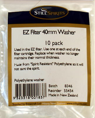 Still Spirits EZ Filter replacement 40mm Washers  (pack of 10)