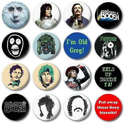 "MIGHTY BOOSH (Various Designs) - 1"" / 25mm Button Badge - Novelty Noel Fielding"