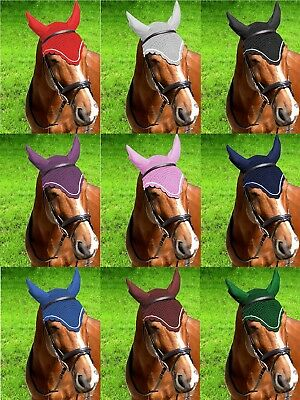 GEE TAC NEW Crochet HORSE EAR BONNET RIDING COMPETITION FLY VEIL FLY MASK